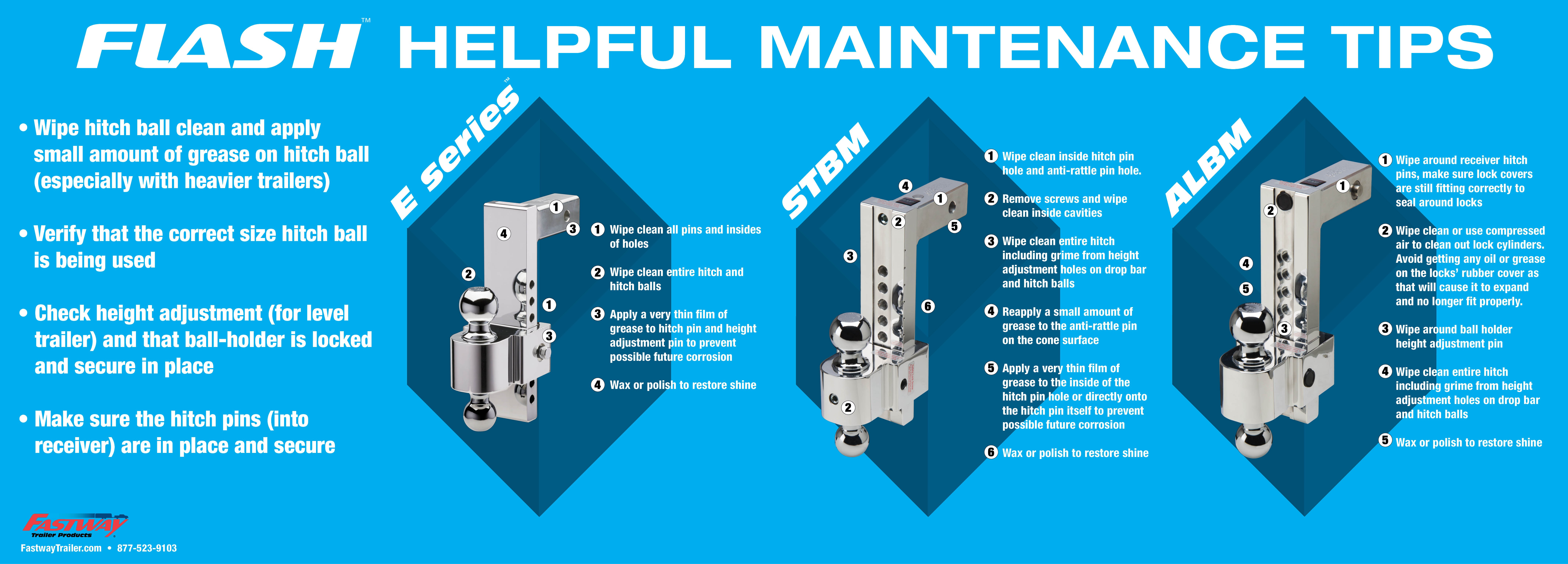 6 Steps To Keep Your Ball Mount Looking New Fastway Trailer Hitch Coupler Diagram Fw Flash Maintenance Infographicasset281
